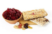 Dried fruit and cookies — Stock Photo
