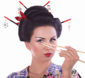 Japanese geisha woman — Stock Photo