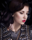 Woman with jewelry — Stock Photo