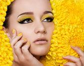 Woman with makeup — Stock Photo
