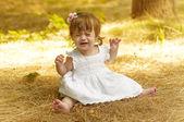 Dissatisfied baby girl — Stock Photo