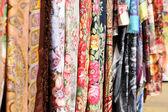Fabrics background — Stock Photo