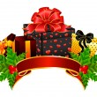 Background with Christmas gifts — Stock Vector #7352119