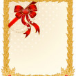 Beautiful Christmas frame on a white background — Stock Vector #7383533
