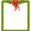 Beautiful Christmas frame on a white background — Stock Vector #7383550