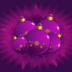 Christmas ball on a background — Stock Vector #7468518