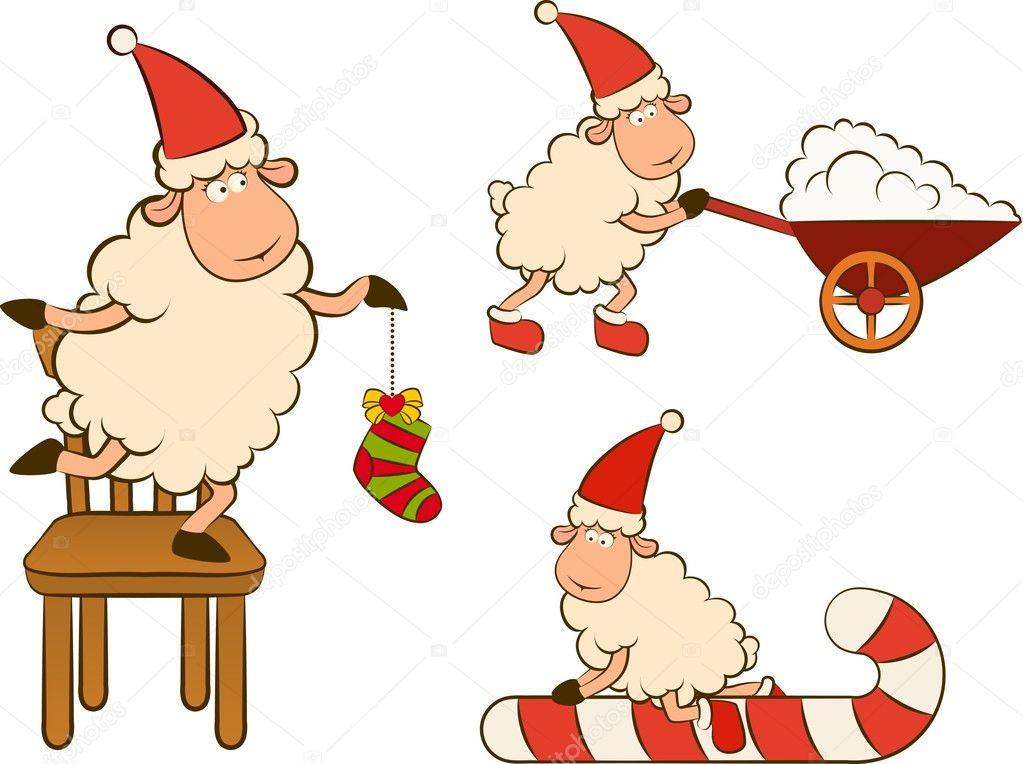 圣诞节搞笑羊