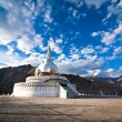 Modern Buddhist monument Shanti Stupa - Stock Photo