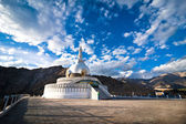 Modern Buddhist monument Shanti Stupa — Stock Photo