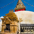 Buddhist Shrine Swayambhunath Stupa. Nepal, Kathmandu — Stock Photo