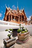 Grand Royal Palace with bonsai tree garden. Thailand — Stock Photo