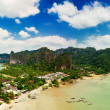 Tropical beach landscape panorama. Thailand - Stock Photo