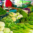 Stock Photo: Thai womselling greengrocery at market