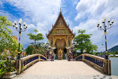 Buddhist pagoda, part of temple complex Wat Plai Laem on Samui i — Stock Photo