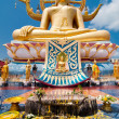 Big golden Buddha statue in Wat Phra Yai Temple. Koh Samui — Stock Photo #24599049
