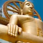 Big golden Buddha statue in Wat Phra Yai Temple. Thailand — Stock Photo #24607391