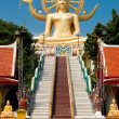 Big golden Buddha statue in Wat Phra Yai Temple. Koh Samui — Stock Photo #24609333