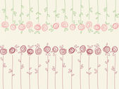 Seamless floral pattern with abstract roses flowers — 图库矢量图片