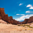 Charyn canyon under blue sky. Kazakhstan — Stock Photo