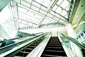 Escalator in modern business center — Stock Photo