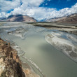 Shyok river at Nubra Valley. India, Ladakh — Stock Photo