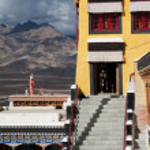 Buddhist heritage, Thiksey monaster. India, Ladakh — Stock Photo