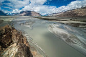 Shyok river at Nubra Valley. India, Ladakh — Stockfoto
