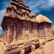 Panch Rathas Monolithic Hindu Temple. India — Stock Photo