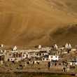 Small Tibetan village in Himalaya mountains. India — Stock Photo