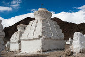 Buddhist stupa over Himalaya mountains. India — Stock Photo