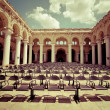 Outdoors concert hall with ancient columns — Stock Photo