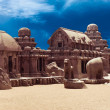 Panch Rathas Monolithic Hindu Temple. India — Foto Stock