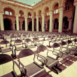 Outdoors concert hall with ancient columns — Stock Photo #34244541
