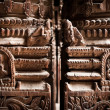 Hindu temple architecture detail.. Nepal — Stock Photo