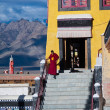 Buddhist monk from Thiksey monastery. India — Stock Photo