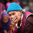 Tibetan woman at folk festival. India, Ladakh — Stock Photo #34274645