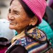 Tibetan woman at folk festival. India, Ladakh — Stock Photo #34274809