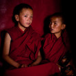 Tibetan boys, novice Buddhist monks. India — Stock Photo