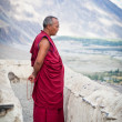 Buddhist monk from Diskit monastery. India — Stock Photo