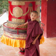 Tibetboys, novice Buddhist monks. India — Stock Photo #34275447