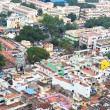 Cityscape of crowded Indian city — Stock Photo