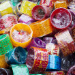 Bangles at Indian market place — Stock Photo