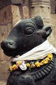 Statue of Nandi Bull at Hindu Temple — Stockfoto