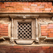 Hindu temple architecture detail. Nepal — Stock Photo