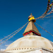 Buddhist Shrine Boudhanath Stupa. Nepal — Stock Photo