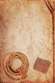 Grunge tekstur stare książki kartkę papieru, liny konopne i tektury — Zdjęcie stockowe