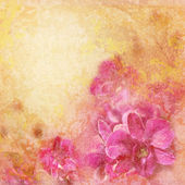 Grunge texture with abstract romantic floral background — Stock Photo