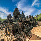Bayon temple at Angkor Wat complex, Siem Reap, Cambodia — Stock Photo