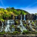 Tropical rainforest landscape with Pongour waterfall. Da Lat, Vietnam — Stock Photo #45965089