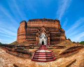 Panorama view of ancient Pa Hto Taw Gyi Pagoda ruins at Mingun in Myanmar (Burma) — Stock Photo